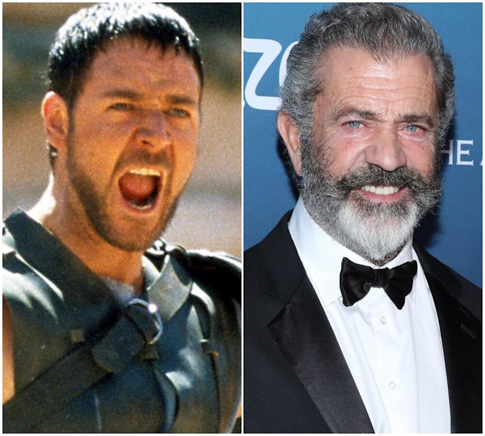 Russell Crowe and Mel Gibson (Photo: Rex/Getty)