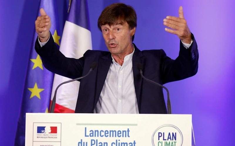 French Minister of Ecological and Social Transition Nicolas Hulot - REUTERS