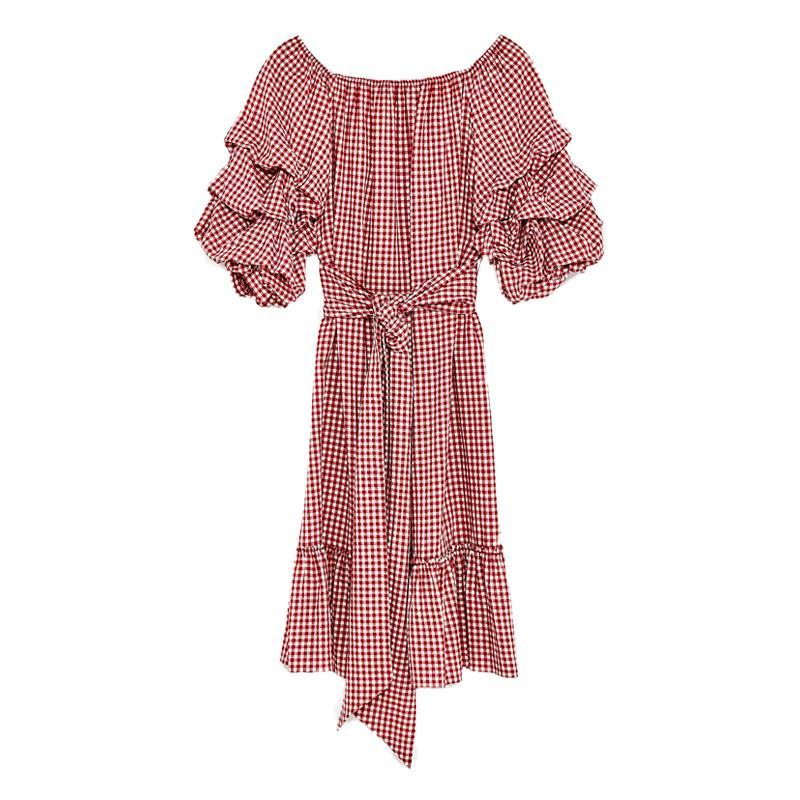 """<p><a href=""""https://www.zara.com/us/en/sale/woman/dresses/view-all/gingham-dress-with-ruffled-sleeves-c732061p4528005.html"""" rel=""""nofollow noopener"""" target=""""_blank"""" data-ylk=""""slk:Gingham Dress With Ruffled Sleeves,"""" class=""""link rapid-noclick-resp"""">Gingham Dress With Ruffled Sleeves,</a> <span><span>$70</span> $50</span></p> <p> <strong>Related Articles</strong> <ul> <li><a href=""""http://thezoereport.com/fashion/style-tips/box-of-style-ways-to-wear-cape-trend/?utm_source=yahoo&utm_medium=syndication"""" rel=""""nofollow noopener"""" target=""""_blank"""" data-ylk=""""slk:The Key Styling Piece Your Wardrobe Needs"""" class=""""link rapid-noclick-resp"""">The Key Styling Piece Your Wardrobe Needs</a></li><li><a href=""""http://thezoereport.com/entertainment/celebrities/meghan-markle-meet-the-markles-reality-show/?utm_source=yahoo&utm_medium=syndication"""" rel=""""nofollow noopener"""" target=""""_blank"""" data-ylk=""""slk:Meghan Markle Is About To Be The Subject Of A New Reality TV Show"""" class=""""link rapid-noclick-resp"""">Meghan Markle Is About To Be The Subject Of A New Reality TV Show</a></li><li><a href=""""http://thezoereport.com/living/wellness/chocolate-avocado-pudding-recipe-bon-appetit/?utm_source=yahoo&utm_medium=syndication"""" rel=""""nofollow noopener"""" target=""""_blank"""" data-ylk=""""slk:If You Love Avocados And Chocolate, You Need To Try This Easy Recipe"""" class=""""link rapid-noclick-resp"""">If You Love Avocados And Chocolate, You Need To Try This Easy Recipe</a></li> </ul> </p>"""