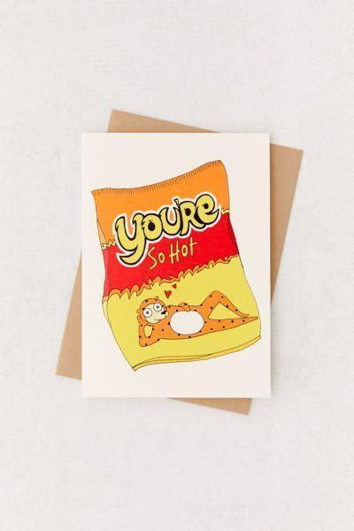 "<p>What's hotter than Hot Cheetos? Yah boo.</p><br><br><strong>Urban Outfitters</strong> You're So Hot Valentine's Day Card, $5, available at <a href=""https://www.urbanoutfitters.com/shop/youre-so-hot-valentines-day-card"" rel=""nofollow noopener"" target=""_blank"" data-ylk=""slk:Urban Outfitters"" class=""link rapid-noclick-resp"">Urban Outfitters</a>"