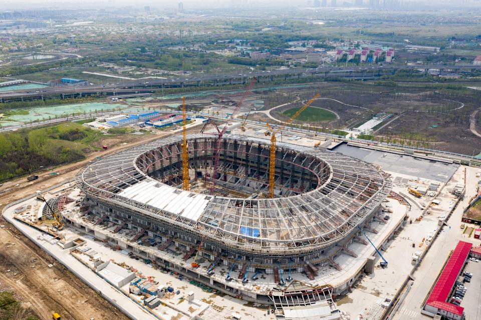Shanghai SIPG's new stadium is one of many in China.AFP via Getty Images