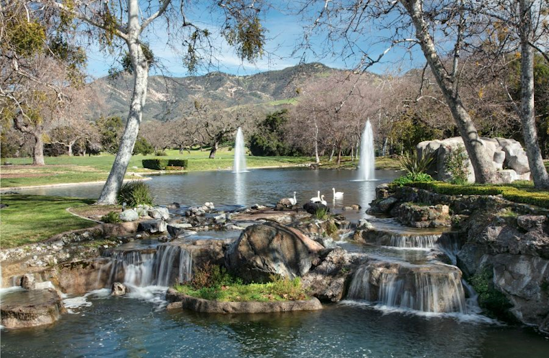 The late Michael Jackson's ranch has multiple fountains. (Photo: Compass)
