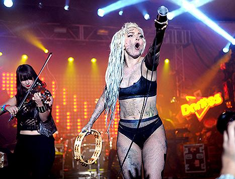 Lady Gaga Gets Puked On By Vomit Painter Millie Brown During Crazy SXSW Concert