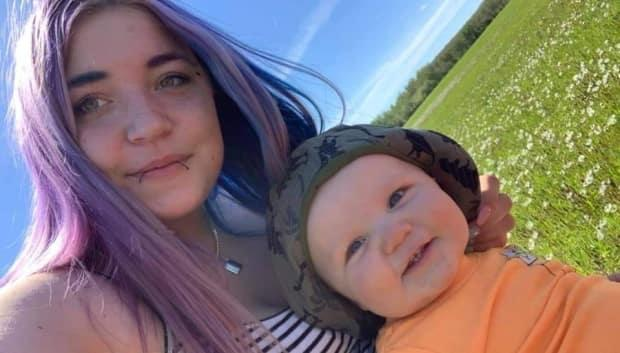 Friends remember Amanda Black as a wonderful mother to her young son. (Submitted by Kacey Salter - image credit)
