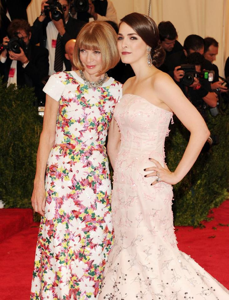 """Anna Wintour, left, and Bee Shaffer attend The Metropolitan Museum of Art's Costume Institute benefit celebrating """"PUNK: Chaos to Couture"""" on Monday, May 6, 2013 in New York. (Photo by Evan Agostini/Invision/AP)"""