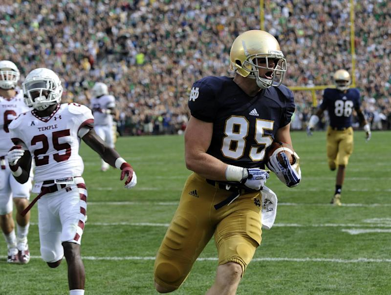 Notre Dame's Niklas is intimidating tight end
