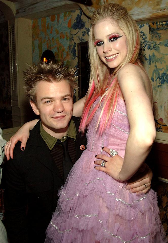 "Deryck Whibley and Avril Lavigne are another music couple unafraid to show a little PDA. Theo Wargo/<a href=""http://www.wireimage.com"" target=""new"">WireImage.com</a> - April 17, 2007"