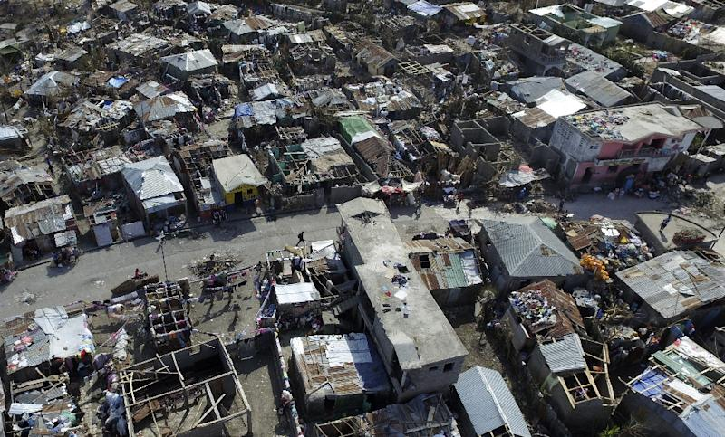 Haitians with the group Potentiel 3.0 traveled to Jeremie with a flotilla of four drones to document the damage (AFP Photo/Nicolas Garcia)