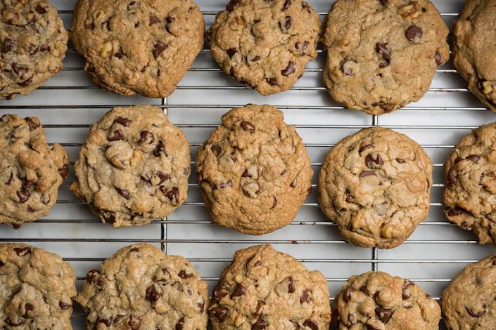 """<p>Your favorite chocolate chip cookie no longer requires a hotel stay.</p><p>Get the recipe from <a href=""""https://www.delish.com/cooking/recipe-ideas/recipes/a46278/copycat-doubletree-chocolate-chip-cookies-recipe/?visibilityoverride"""" rel=""""nofollow noopener"""" target=""""_blank"""" data-ylk=""""slk:Delish"""" class=""""link rapid-noclick-resp"""">Delish</a>.</p>"""
