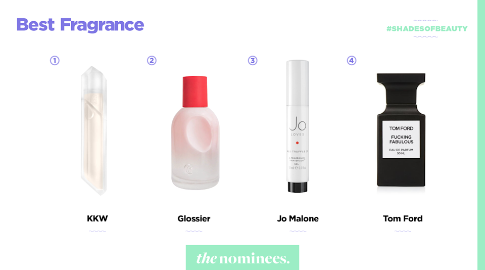 <p>KKW, Glossier, Jo Malone, and Tom Ford. (Art by Quinn Lemmers for Yahoo Lifestyle) </p>