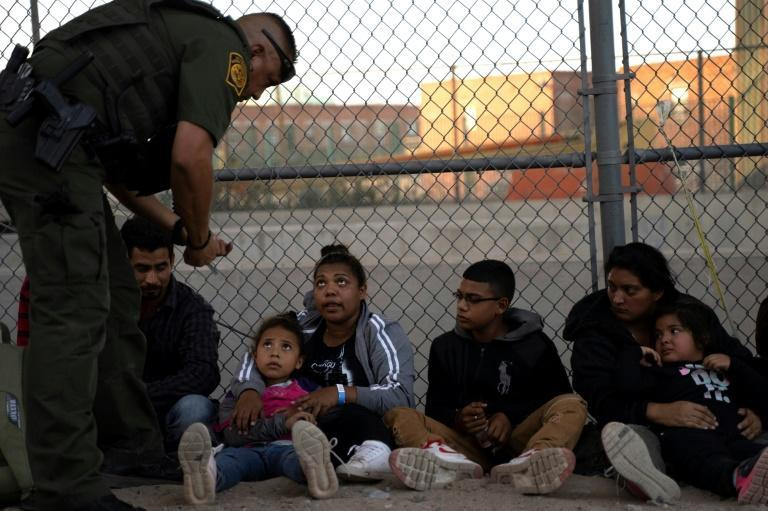Migrants, mostly from Central America, taken into custody by US border officials in 2019 in El Paso, Texas.
