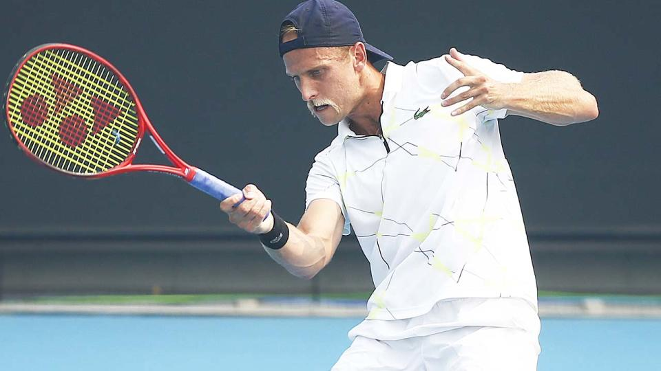 Denis Kudla, pictured here in action during 2020 Australian Open Qualifying.