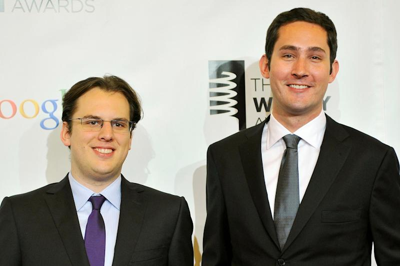 Mr Systrom and Mr Krieger in 2012: REUTERS