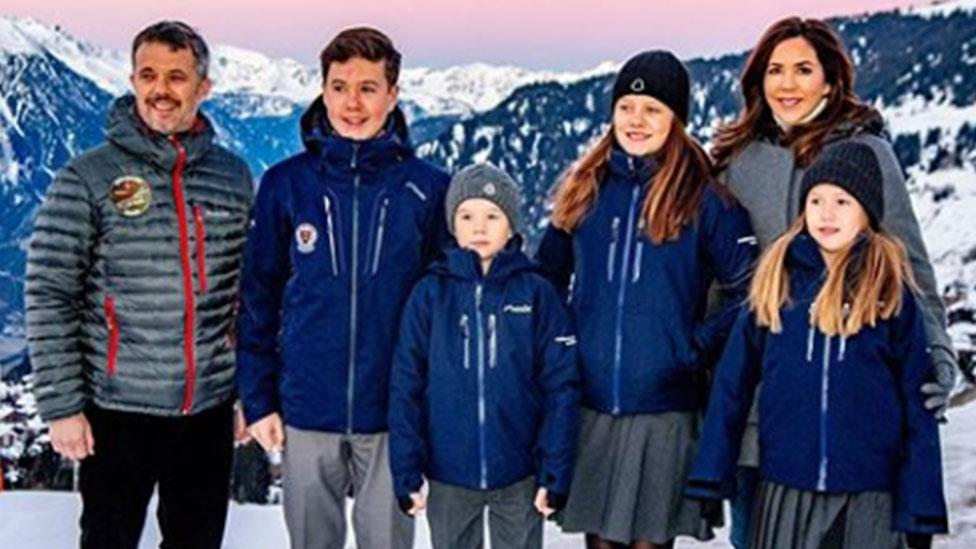 "January 2020: The royals announce that <a href=""https://au.lifestyle.yahoo.com/princess-mary-switzerland-three-months-lemania-verbier-international-school-215012185.html"">Princess Mary will remain in Switzerland for three months while their four children attend boarding school</a>. Photo: Instagram/detdanskekongehus."