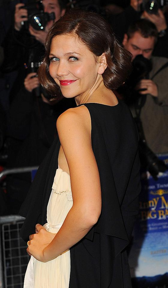 """<a href=""""http://movies.yahoo.com/movie/contributor/1800360995"""">Maggie Gyllenhaal</a> at the London premiere of <a href=""""http://movies.yahoo.com/movie/1810081581/info"""">Nanny McPhee and the Big Bang</a> - 03/24/2010"""