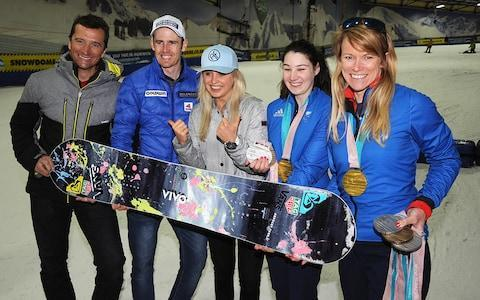 <span>Graham Bell, Dave Ryding, Aimee Fuller, Menna Fitzpatrick and Jen Kehoe are all ambassadors</span> <span>Credit: snowsport england </span>