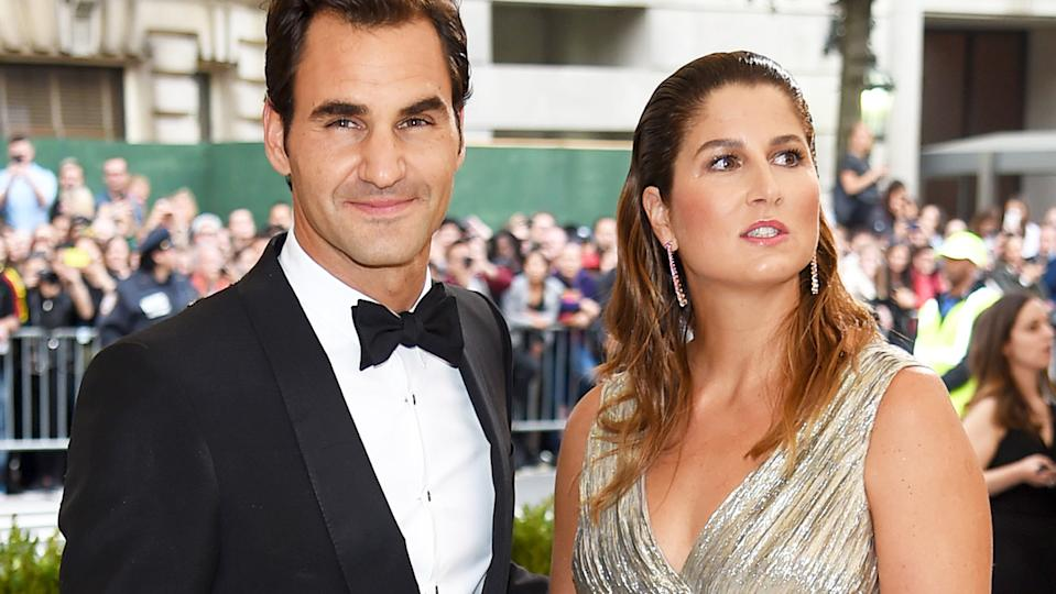 Roger and Mirka Federer, pictured here at the Met Gala in 2017.