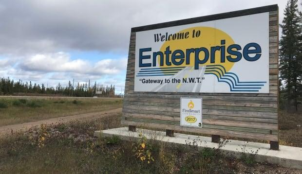 Enterprise is known as 'the gateway to the N.W.T.' due to its close proximity to the Alberta border. Its estimated population in 2018 was 131.  ( - image credit)