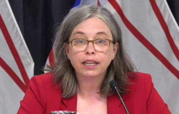 Chief Medical Officer of Health Dr. Janice Fitzgerald says she anticipates 50 per cent of Newfoundland and Labrador's eligible population will be fully vaccinated by next week. (Government of Newfoundland and Labrador - image credit)