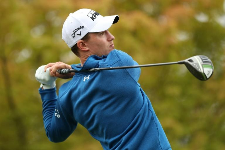 American Maverick McNealy is the second-round leader in the US PGA Tour Fortinet Championship in Napa, California (AFP/Meg Oliphant)