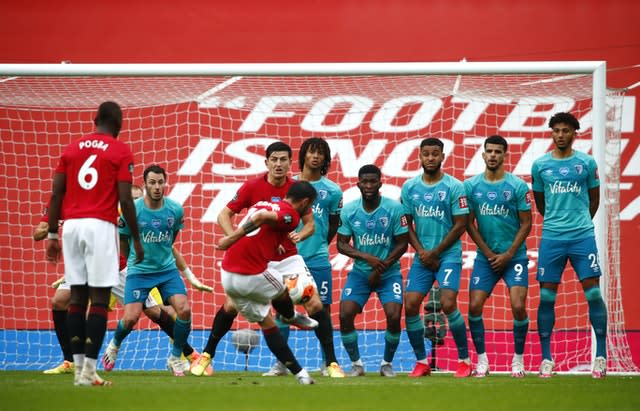 Bruno Fernandes scored United's fifth goal
