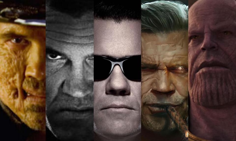 <p>Josh Brolin has five comic book roles under his belt. In the past he has played Jonah Hex, Dwight McCarthy in <em>Sin City: A Dame to Kill For</em> and a young Agent K in <em>Men In Black 3</em>. His Marvel villain Thanos will be taking centrestage in the upcoming<em> Avengers: Infinity War</em> and he'll also be making his debut as Cable in <em>Deadpool 2</em>. </p>