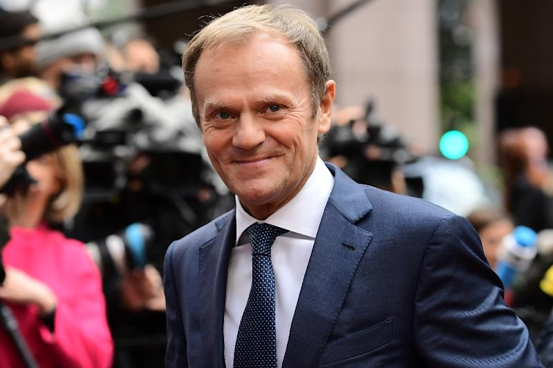 European Council President Donald Tusk arrives for a European Union leaders summit on October 20, 2016 in Brussels (AFP Photo/Emmanuel Dunand)