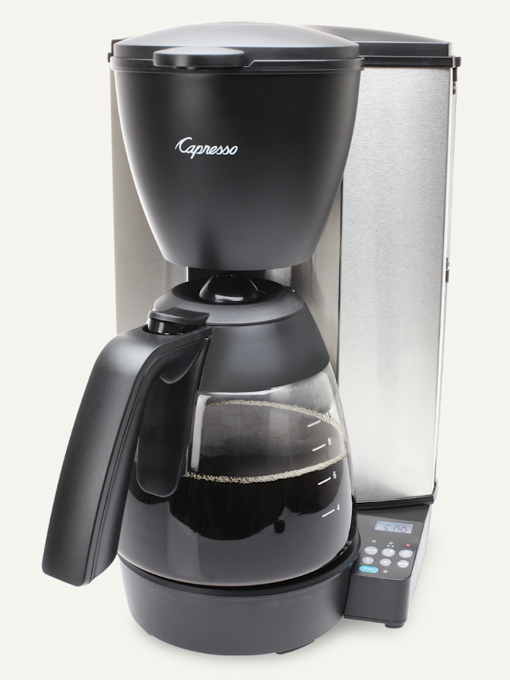 """<p>In our humble opinion, few things are as important as a <a rel=""""nofollow"""" href=""""http://www.drozthegoodlife.com/health-articles/g163/health-benefits-coffee-studies/"""">proper cuppa morning Joe</a>.  This 10-cup coffee maker takes things up a notch with a charcoal water filter and stainless-steel-lined heating system that eliminates water contact with aluminum.</p><p><strong>Grab it here:</strong> <a rel=""""nofollow"""" href=""""http://www.capresso.com/coffee-makers/drip/mg600-plus-coffee-maker.html"""">Capresso MG600 Plus, $89.99</a></p>"""