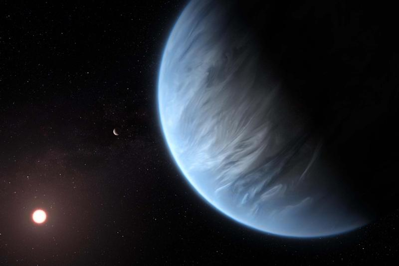 Water vapour has been detected on a potentially habitable super-Earth known as K2-18b: PA