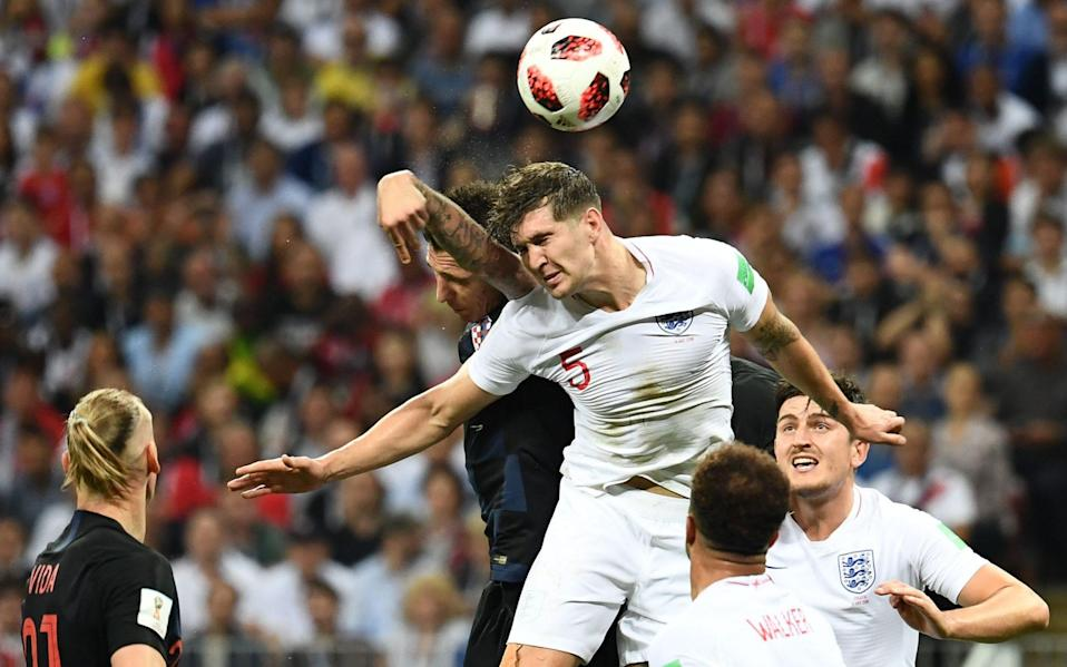 Matches at World Cups from 1966 through to 2018 were examined for the average number of headers - AFP