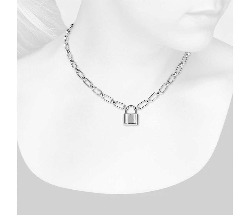 """<h3>Blue Nile Sterling Silver Padlock Necklace<br></h3> <br>Is this the work of a 5th Avenue-based heritage jewelry house, or a well-priced, surprisingly stylish find from a big-box bauble destination? That's for you to know, and your friends to find out.<br><br><em>Shop <strong><a href=""""https://www.bluenile.com/"""" rel=""""nofollow noopener"""" target=""""_blank"""" data-ylk=""""slk:Blue Nile"""" class=""""link rapid-noclick-resp"""">Blue Nile</a></strong></em><br><br><strong>Blue Nile</strong> Padlock Necklace in Sterling Silver, $, available at <a href=""""https://go.skimresources.com/?id=30283X879131&url=https%3A%2F%2Fwww.bluenile.com%2Fpadlock-necklace-sterling-silver_59515"""" rel=""""nofollow noopener"""" target=""""_blank"""" data-ylk=""""slk:Blue Nile"""" class=""""link rapid-noclick-resp"""">Blue Nile</a><br><br><br>"""