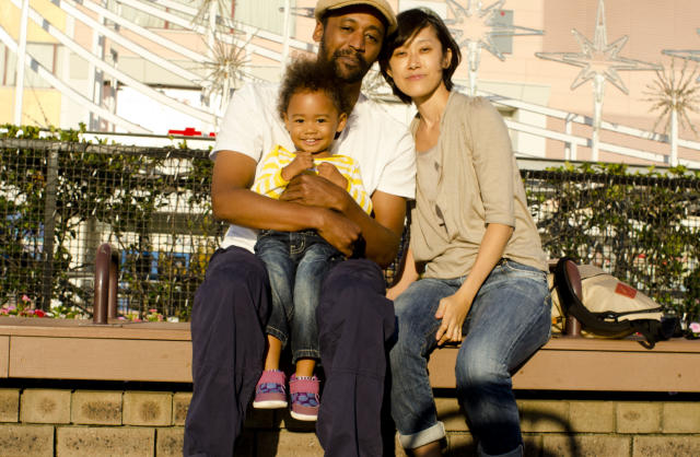 Me, my wife, Haruki, and daughter, Kantra. (Tracy Jones)