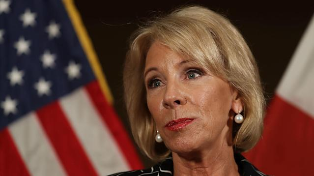 DeVos: 'I Don't Know' Whether Sexual Assaults Outnumber False Accusations