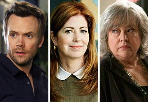 Joel Mchale, Dana Delany and Kathy Bates | Photo Credits: Jordin Althaus/NBC, Claire Folger/ABC, Neil Jacobs/NBC