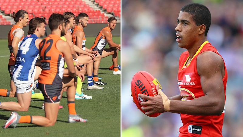 Pictured right, Joel Wilkinson finds the AFL's Black Lives Matter support hypocritical.