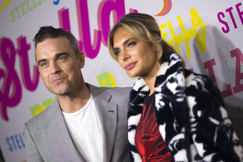 New judges: Robbie Williams and Ayda Field will reportedly appear on The X Factor this year: VALERIE MACON/AFP/Getty Images