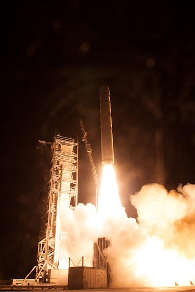 "A Minotaur V rocket carrying NASA's Lunar Atmosphere and Dust Environment Explorer (LADEE) lifts off from at NASA's Wallops Flight Facility in Virginia on Friday, Sept. 6, 2013. <a href=""http://www.space.com/22694-nasa-ladee-moon-mission-launch"