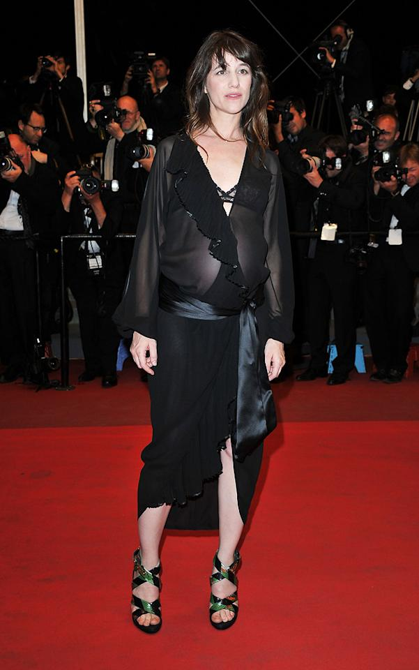 """Charlotte Gainsbourgh attends the 64th Annual Cannes Film Festival premiere of """"Meloncholia"""" on May 18, 2011."""