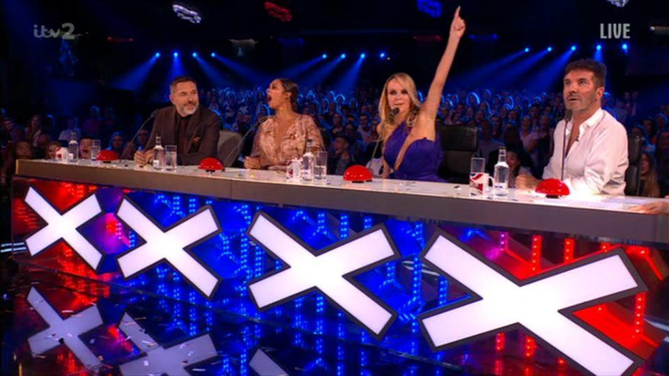 Holden's fellow judges were stunned as Mulhern looked suitably offended (ITV)