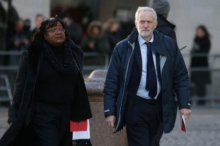 Labour Party leader Jeremy Corbyn and Diane Abbott arrive at St Paul's Cathedral (Picture: REUTERS/Daniel Leal-Olivas/Pool)