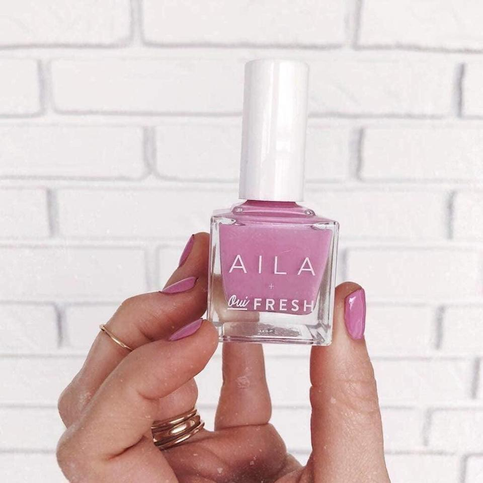 <p>Add a pop of purple-pink into your mani-pedis with the <span>Aila Nail Lacquer in Supernova, 0.45 oz</span> ($16)</p>