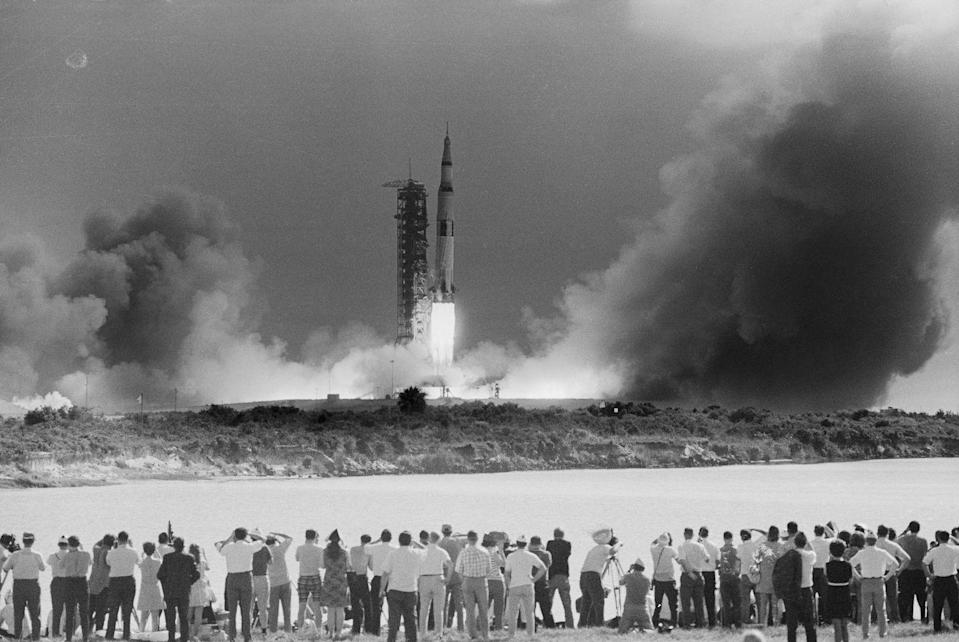 """<p>Cocoa was a mecca for deep space fanatics, but the 1969 <em>Apollo 11</em> mission really drew in the crowds. <em>Apollo 11</em> was the first spaceflight that landed humans on the moon. This included famed astronauts Neil Armstrong and Buzz Aldrin. The John F. Kennedy Space Center had opened in 1962 officiating this part of Florida as <a href=""""https://www.visitspacecoast.com/?gclid=CjwKCAjw0_T4BRBlEiwAwoEiAbRO-KlIuGBbqWx2fzXRlDe8mWTEJlFfTzt_8_KHNqcRXcPpitsodxoC9iYQAvD_BwE"""" rel=""""nofollow noopener"""" target=""""_blank"""" data-ylk=""""slk:the space coast."""" class=""""link rapid-noclick-resp"""">the space coast.</a> </p>"""