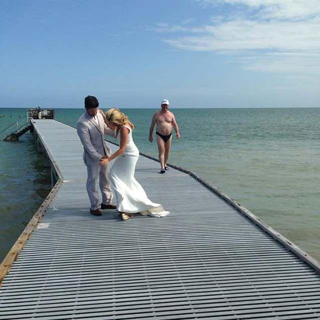 A wedding photograph has turned from accident to awesome. Photo: White Orchard Studios.