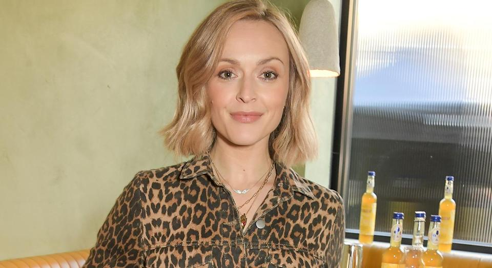 Fearne Cotton nails summer dressing in printed dress. (Getty Images)