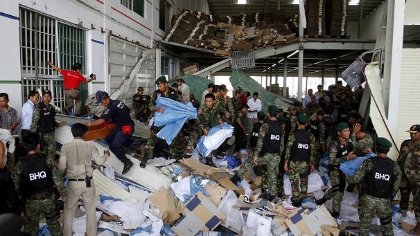 "At least two people were killed when part of a shoe factory collapsed in Cambodia. A concrete roof fell down at the plant in Kampong Speu province, west of the capital Pnomh Penh.  	Reports suggest around 100 people could have been working in the factory at the time. It is not clear how many people have been killed – but the Cambodian government has confirmed two deaths.  	Cambodian Social Affairs Minister Ith Samheng said: ""We pay our deep condolences to those who died. The government will organise an investigation into this incident and take measures to prevent something like this from happening again.""  	Samheng said no-one remained trapped in the building.  	Workplace safety in the global garment industry has been in the spotlight in recent weeks – after a clothing factory collapsed in Bangladesh in April, killing more than 1,100 people."