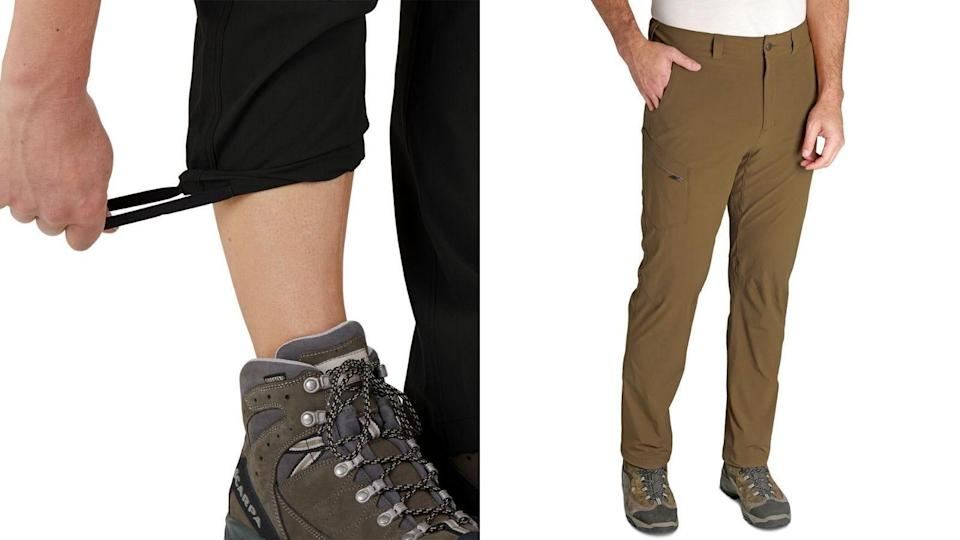 Pants with a wide range of stretch ensure a comfortable hike.