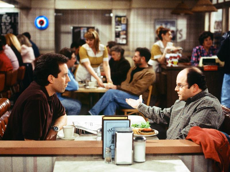 Jerry Seinfeld as himself and Jason Alexander as George Costanza
