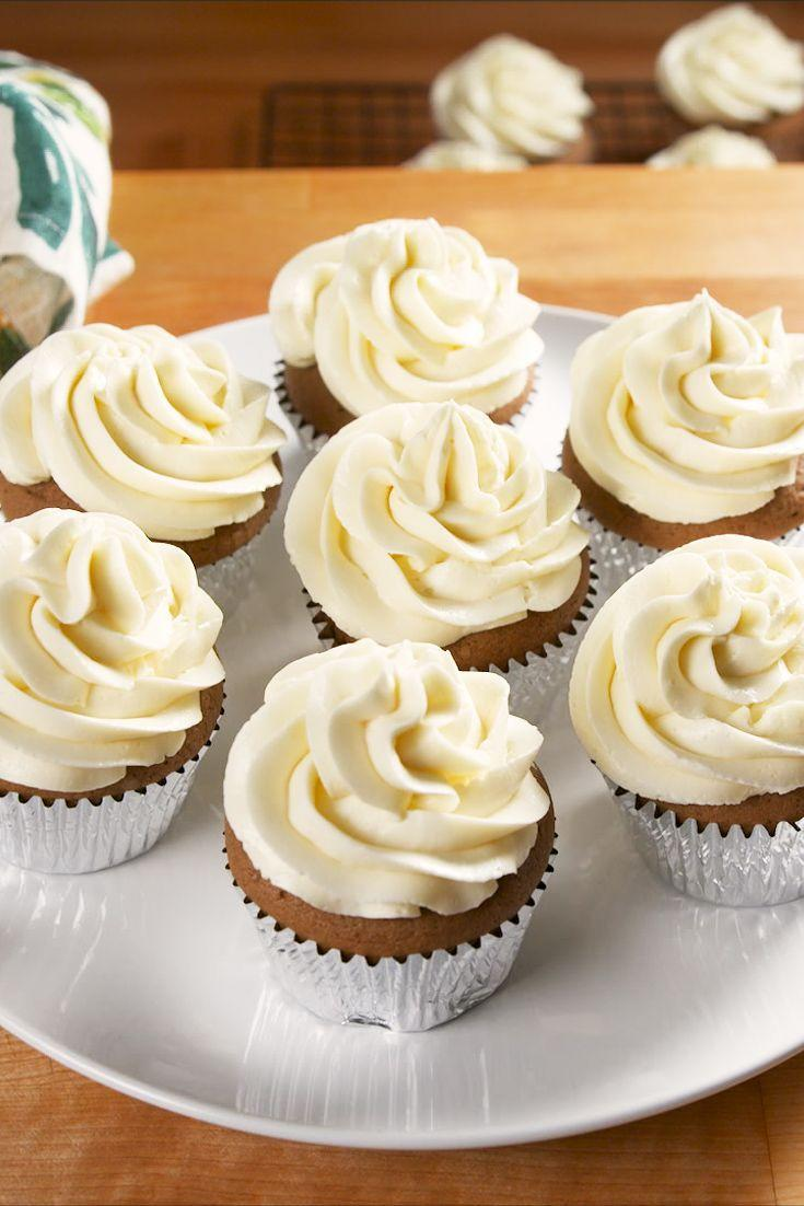 """<p>Strong and rich coffee cupcakes are topped with a smooth and creamy condensed milk frosting. </p><p>Get the recipe from <a href=""""https://www.delish.com/cooking/recipe-ideas/a34114845/coffee-cupcakes-with-condensed-milk-frosting-recipe/"""" rel=""""nofollow noopener"""" target=""""_blank"""" data-ylk=""""slk:Delish"""" class=""""link rapid-noclick-resp"""">Delish</a>.</p>"""