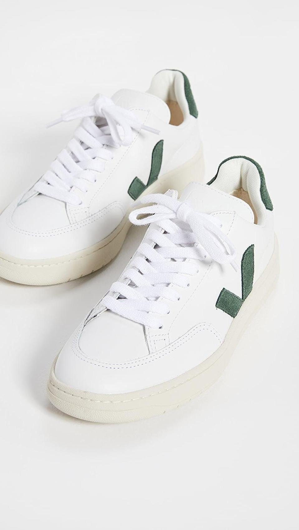 <p>These <span>Veja V-12 Sneakers</span> ($150) probably feel like they're barely there. They look so soft and comfortable.</p>