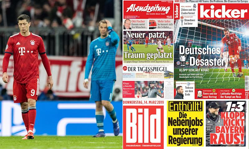 'No plan, no courage' – German press lays into Bayern after Liverpool loss